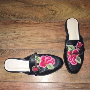 Wild Diva Lounge Embroidered Loafers